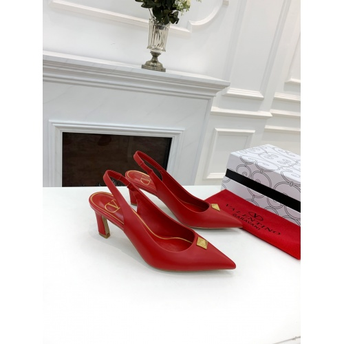 Replica Valentino High-Heeled Shoes For Women #878464 $82.00 USD for Wholesale