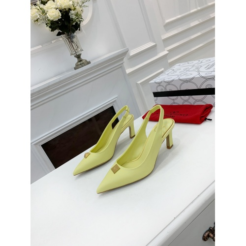 Valentino High-Heeled Shoes For Women #878466 $82.00 USD, Wholesale Replica Valentino High-Heeled Shoes