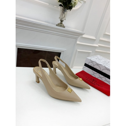 Replica Valentino High-Heeled Shoes For Women #878468 $82.00 USD for Wholesale