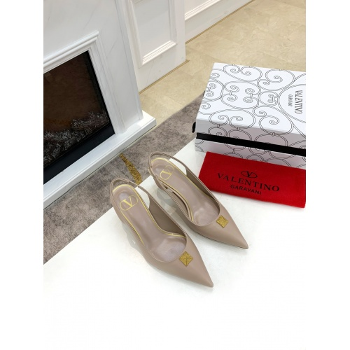 Replica Valentino High-Heeled Shoes For Women #878469 $82.00 USD for Wholesale