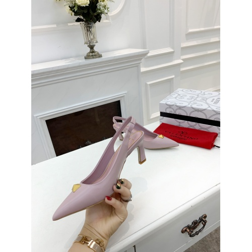Replica Valentino High-Heeled Shoes For Women #878470 $82.00 USD for Wholesale