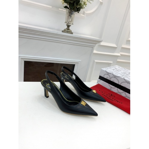 Replica Valentino High-Heeled Shoes For Women #878473 $82.00 USD for Wholesale