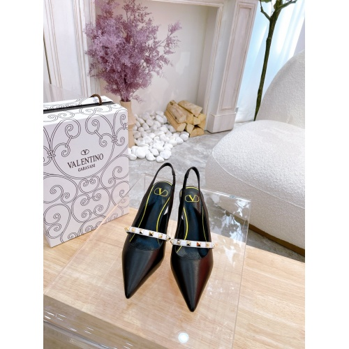 Replica Valentino High-Heeled Shoes For Women #878475 $82.00 USD for Wholesale