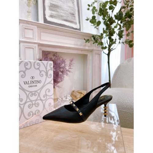 Replica Valentino High-Heeled Shoes For Women #878476 $82.00 USD for Wholesale