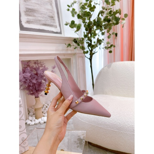 Replica Valentino High-Heeled Shoes For Women #878477 $82.00 USD for Wholesale