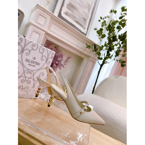 Replica Valentino High-Heeled Shoes For Women #878479 $82.00 USD for Wholesale