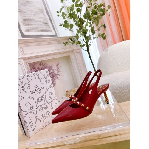 Valentino High-Heeled Shoes For Women #878480 $82.00 USD, Wholesale Replica Valentino High-Heeled Shoes