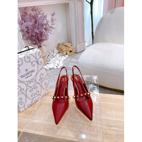 Replica Valentino High-Heeled Shoes For Women #878480 $82.00 USD for Wholesale