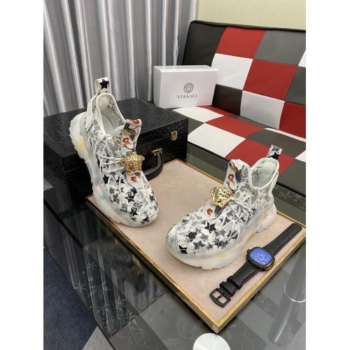Versace Casual Shoes For Men #878560 $80.00 USD, Wholesale Replica Versace Casual Shoes