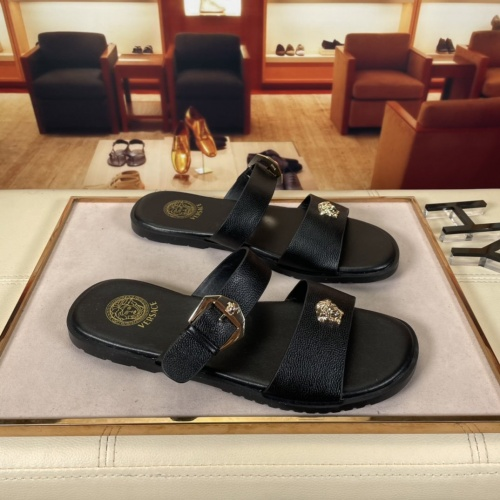 Versace Slippers For Men #878630 $45.00 USD, Wholesale Replica Versace Slippers