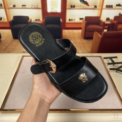 Replica Versace Slippers For Men #878630 $45.00 USD for Wholesale