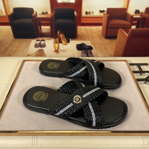 Versace Slippers For Men #878631 $45.00 USD, Wholesale Replica Versace Slippers