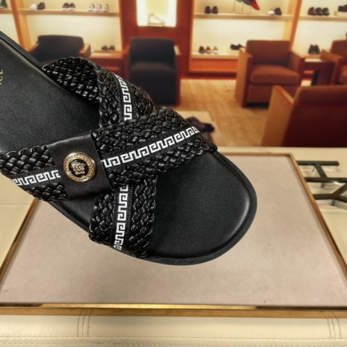 Replica Versace Slippers For Men #878631 $45.00 USD for Wholesale