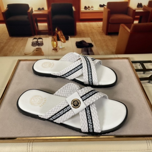 Versace Slippers For Men #878632 $45.00 USD, Wholesale Replica Versace Slippers
