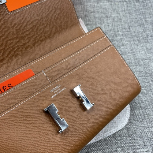 Replica Hermes AAA Quality Wallets For Women #879036 $65.00 USD for Wholesale