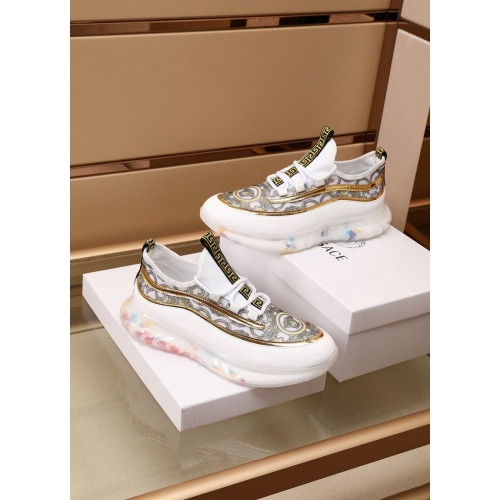 Replica Versace Casual Shoes For Men #879216 $82.00 USD for Wholesale