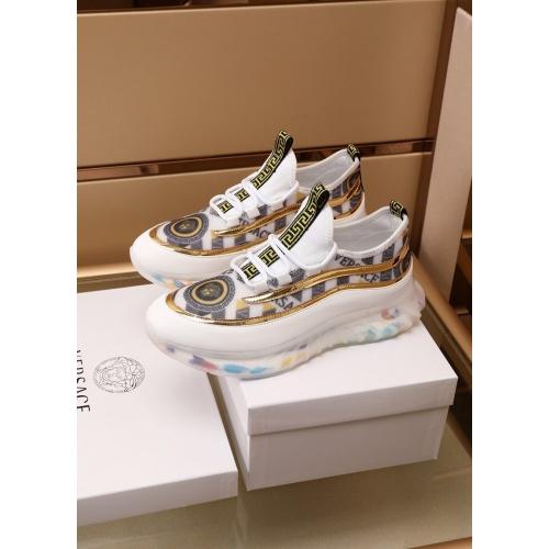 Versace Casual Shoes For Men #879217 $82.00 USD, Wholesale Replica Versace Casual Shoes