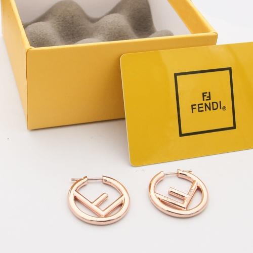 Fendi Earrings #879495 $29.00 USD, Wholesale Replica Fendi Earrings
