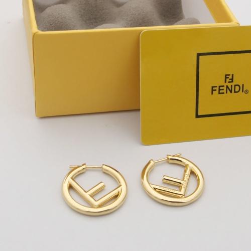 Fendi Earrings #879497 $29.00 USD, Wholesale Replica Fendi Earrings