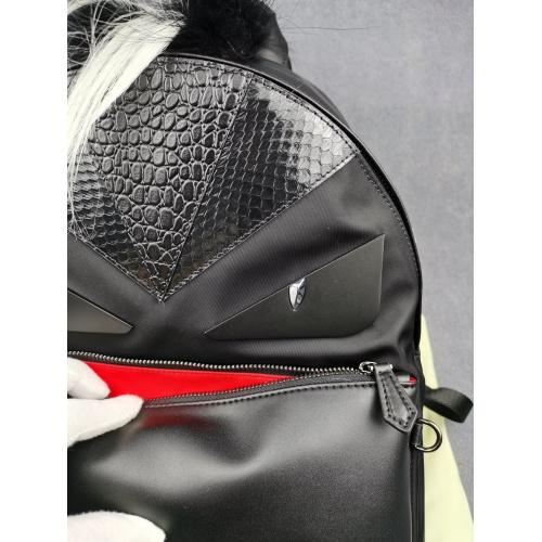 Replica Fendi AAA Man Backpacks #879535 $122.00 USD for Wholesale