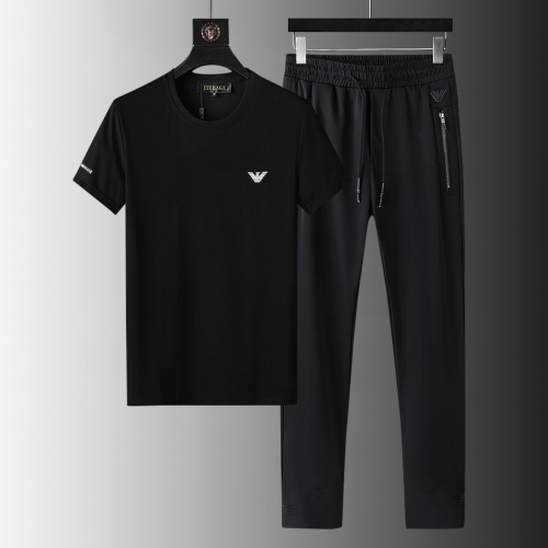 Armani Tracksuits Short Sleeved For Men #879566 $64.00 USD, Wholesale Replica Armani Tracksuits