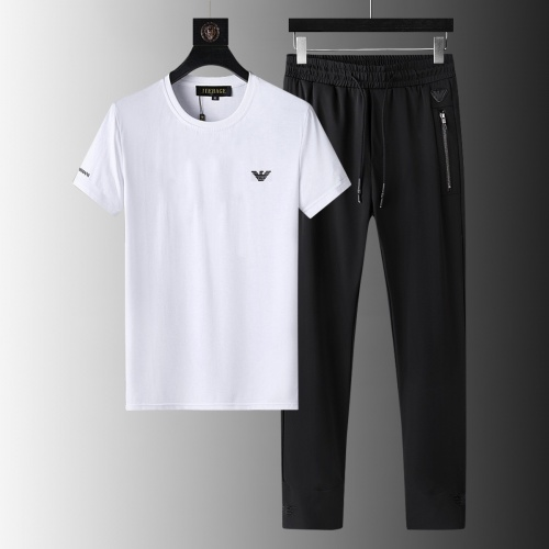 Armani Tracksuits Short Sleeved For Men #879567 $64.00 USD, Wholesale Replica Armani Tracksuits