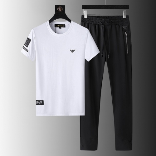 Armani Tracksuits Short Sleeved For Men #879571 $64.00 USD, Wholesale Replica Armani Tracksuits
