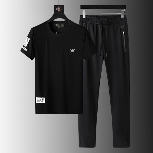 Armani Tracksuits Short Sleeved For Men #879572 $64.00 USD, Wholesale Replica Armani Tracksuits