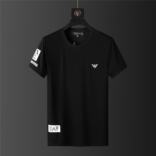 Replica Armani Tracksuits Short Sleeved For Men #879572 $64.00 USD for Wholesale
