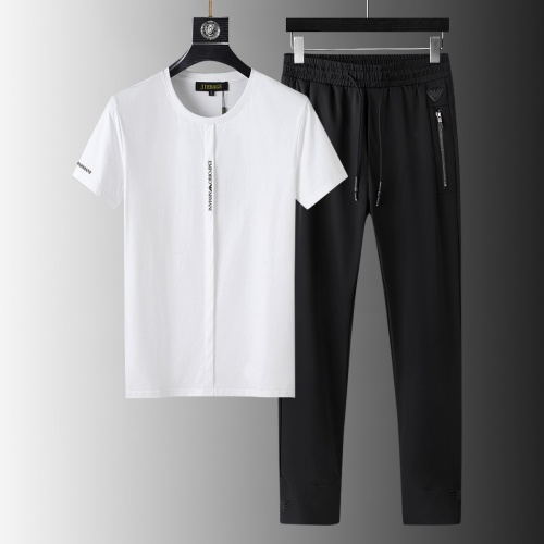 Armani Tracksuits Short Sleeved For Men #879576 $64.00 USD, Wholesale Replica Armani Tracksuits