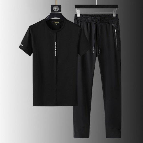 Armani Tracksuits Short Sleeved For Men #879577 $64.00 USD, Wholesale Replica Armani Tracksuits