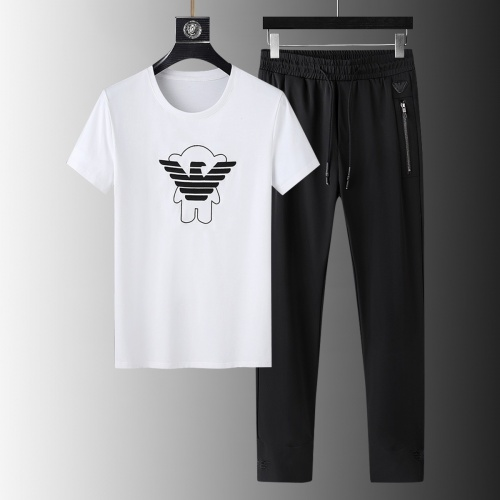 Armani Tracksuits Short Sleeved For Men #879579 $64.00 USD, Wholesale Replica Armani Tracksuits