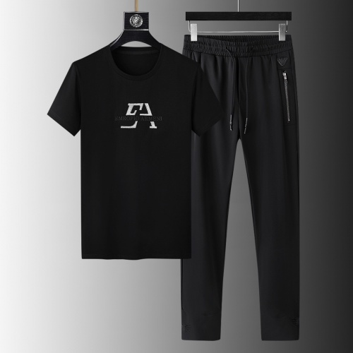 Armani Tracksuits Short Sleeved For Men #879581 $64.00 USD, Wholesale Replica Armani Tracksuits