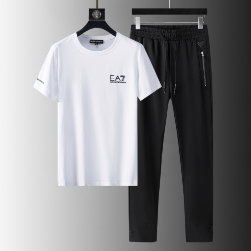 Armani Tracksuits Short Sleeved For Men #879587 $64.00 USD, Wholesale Replica Armani Tracksuits