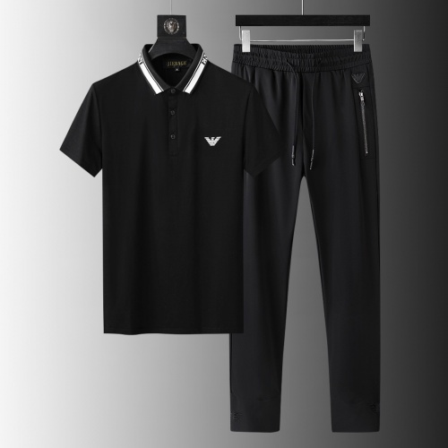 Armani Tracksuits Short Sleeved For Men #879589 $68.00 USD, Wholesale Replica Armani Tracksuits