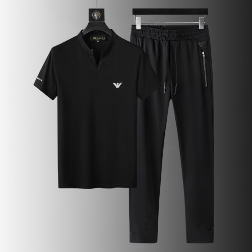 Armani Tracksuits Short Sleeved For Men #879593 $68.00 USD, Wholesale Replica Armani Tracksuits