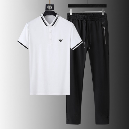 Armani Tracksuits Short Sleeved For Men #879594 $68.00 USD, Wholesale Replica Armani Tracksuits