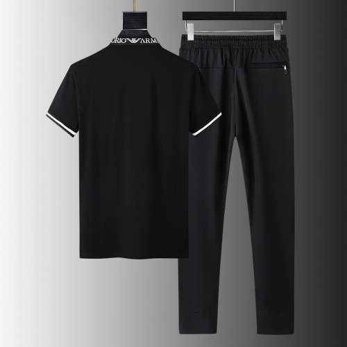 Armani Tracksuits Short Sleeved For Men #879595 $68.00 USD, Wholesale Replica Armani Tracksuits
