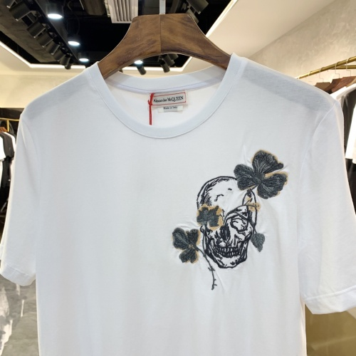Replica Alexander McQueen T-shirts Short Sleeved For Men #879608 $40.00 USD for Wholesale