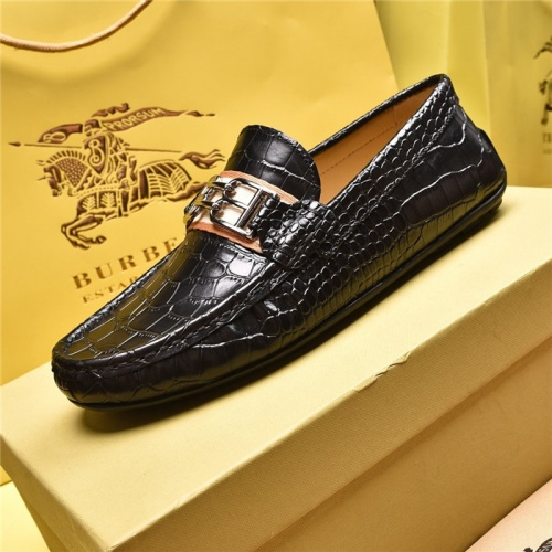 Replica Burberry Leather Shoes For Men #879610 $80.00 USD for Wholesale