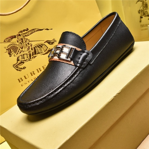 Replica Burberry Leather Shoes For Men #879611 $80.00 USD for Wholesale
