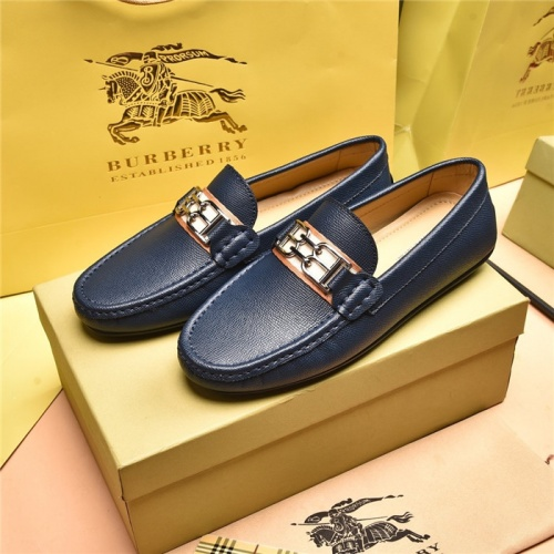 Burberry Leather Shoes For Men #879612 $80.00 USD, Wholesale Replica Burberry Leather Shoes