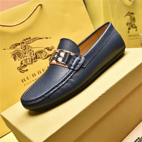 Replica Burberry Leather Shoes For Men #879612 $80.00 USD for Wholesale