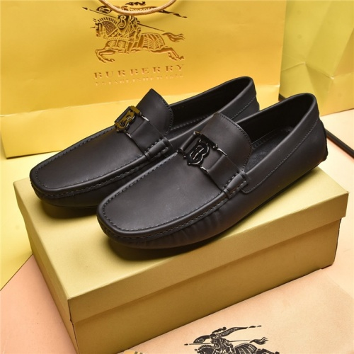 Burberry Leather Shoes For Men #879613 $80.00 USD, Wholesale Replica Burberry Leather Shoes