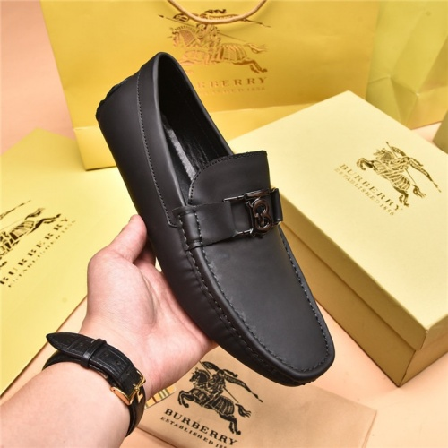 Replica Burberry Leather Shoes For Men #879613 $80.00 USD for Wholesale