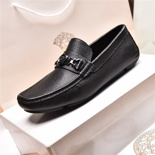 Replica Versace Leather Shoes For Men #879619 $80.00 USD for Wholesale