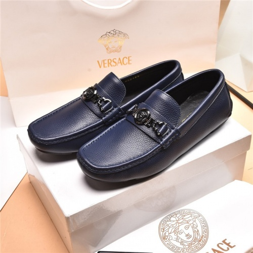 Versace Leather Shoes For Men #879620
