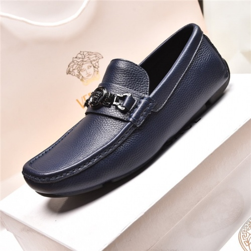 Replica Versace Leather Shoes For Men #879620 $80.00 USD for Wholesale