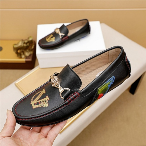 Replica Versace Leather Shoes For Men #879622 $68.00 USD for Wholesale