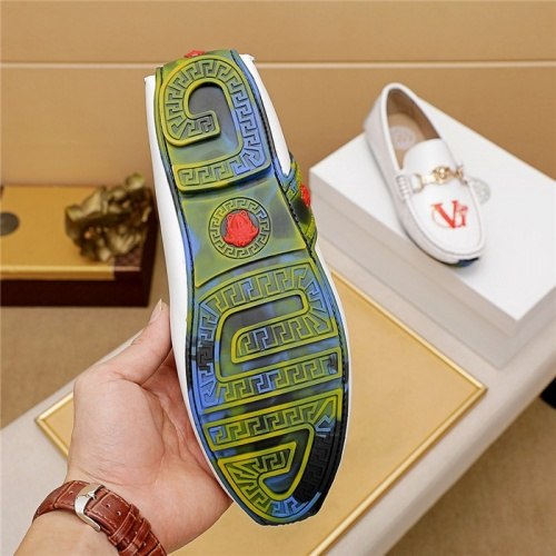 Replica Versace Leather Shoes For Men #879623 $68.00 USD for Wholesale